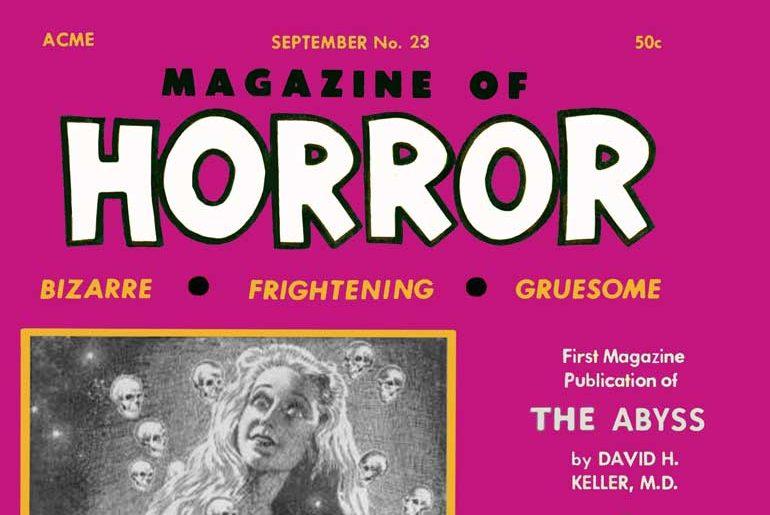 Magazine of Horror #23 masthead
