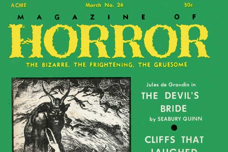 Magazine of Horror #26 March 1969 masthead