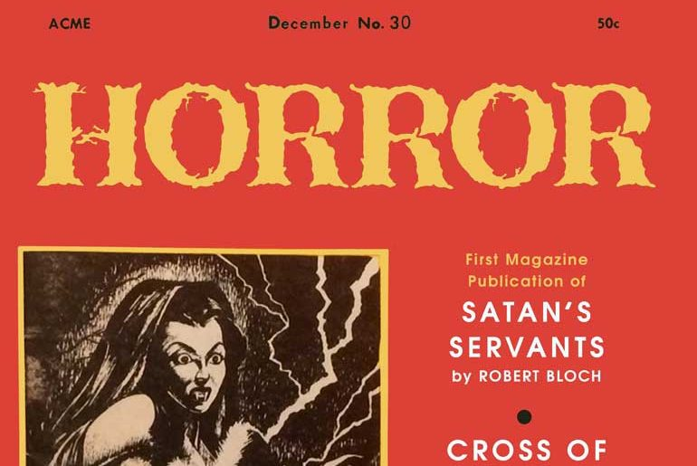 Magazine of Horror #30 masthead
