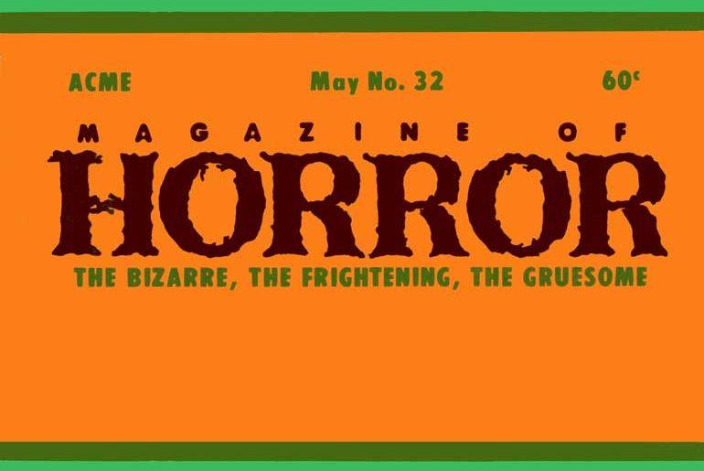Magazine of Horror #32 masthead