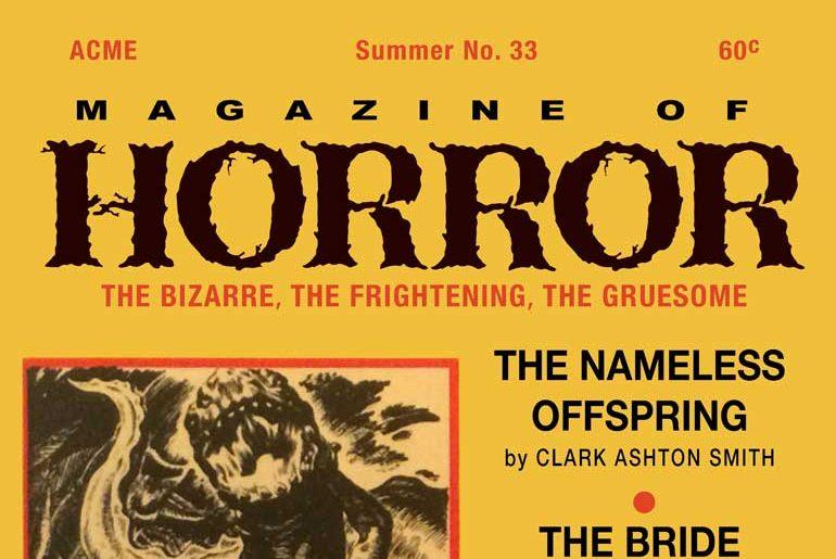 Magazine of Horror #33 masthead