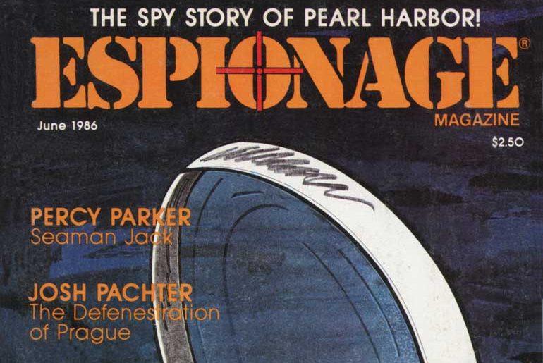 Espionage June 1986 masthead