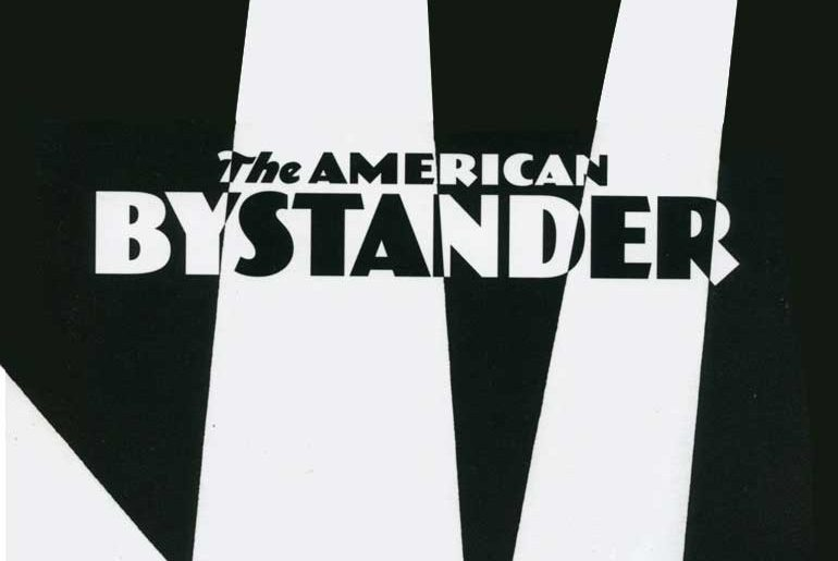 The American Bystander masthead