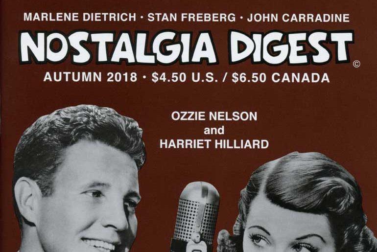 Nostalgia Digest Autumn 2018 masthead