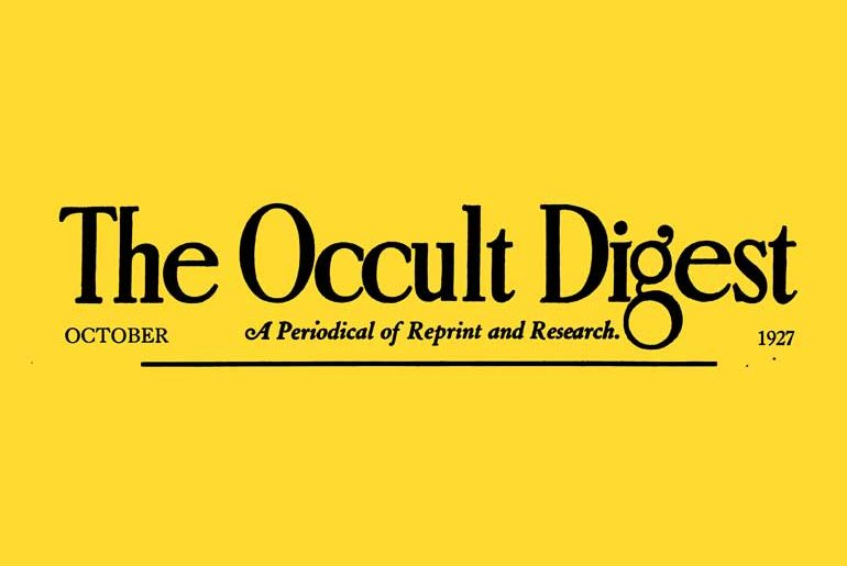The Occult Digest masthead