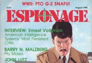 Espionage August 1985 masthead