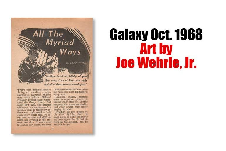 Galaxy Oct. 1968 Art by Joe Wehrle, Jr.