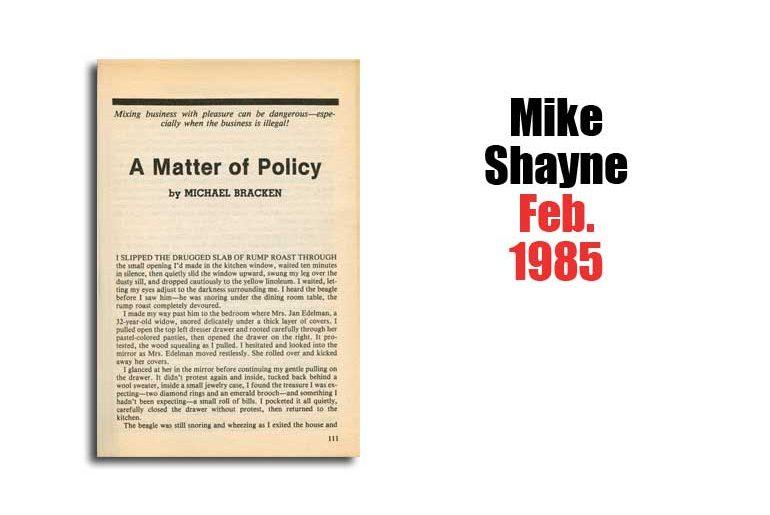 """Michael Bracken's """"A Matter of Policy"""""""