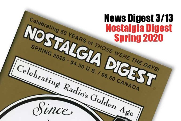 News Digest March 13, 2020