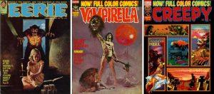 Eerie 48, Vampirella 25, Creepy 54
